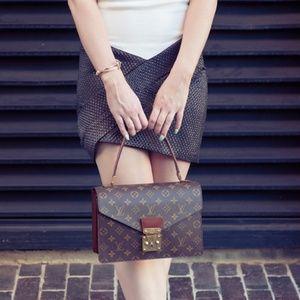 LV Monogram Concorde Handbag Brown Shoulder Bag